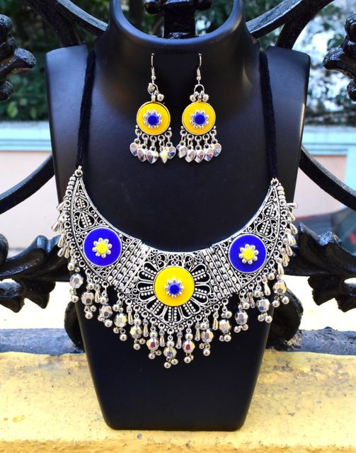 Oxidized Metal Set Colored- Yellow&Blue