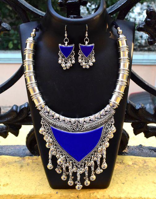Oxidized Metal Set Colored-Blue