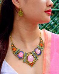 Bohemian Bead Necklace Set- Multicolored