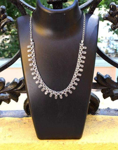German Silver Kolhapuri Necklace- Pattern 5