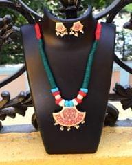 Threaded Meenakari Necklace Set- Pattern -25