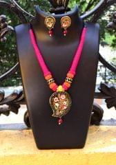 Threaded Meenakari Necklace Set- Pattern -26