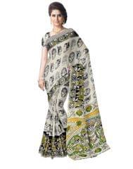 Kalamkari Saree in Cotton-Offwhite