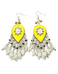 Oxidized Metal Earring-Yellow