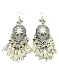Oxidized Metal Earring-Silver