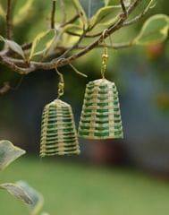 Bamboo Earrings Lamp Shaped- Pattern 2