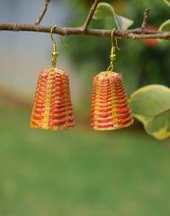 Bamboo Earrings Lamp Shaped- Pattern 3