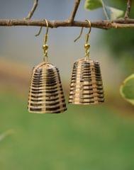 Bamboo Earrings Lamp Shaped- Pattern 5