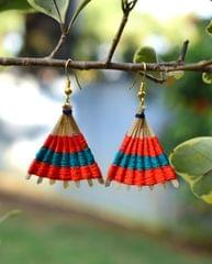 Bamboo Earrings Fan Shaped- Pattern 6