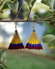Bamboo Earrings Fan Shaped- Pattern 5