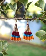 Bamboo Earrings Fan Shaped- Pattern 7