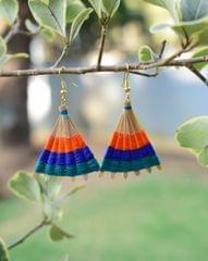 Bamboo Earrings Fan Shaped- Pattern 9