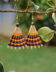 Bamboo Earrings Fan Shaped- Pattern 12