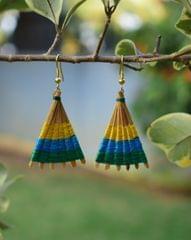Bamboo Earrings Fan Shaped- Pattern 16