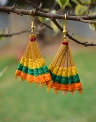 Bamboo Earrings Fan Shaped- Pattern 13