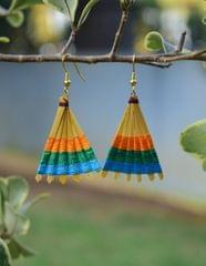 Bamboo Earrings Fan Shaped- Pattern 15