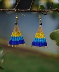 Bamboo Earrings Fan Shaped- Pattern 17