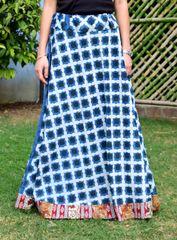 Dabu Print Cotton Skirt- Pattern 3