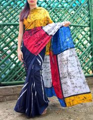 Batik Saree in Mul Cotton-Pattern 1