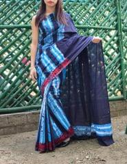 Batik Saree in Mul Cotton-Pattern 2