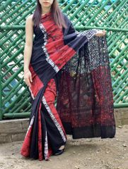 Batik Saree in Mul Cotton-Pattern 3