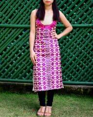 Khadi Phulkari Kurta UnStitched - Pattern 2