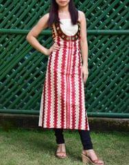 Khadi Phulkari Kurta UnStitched - Pattern 3