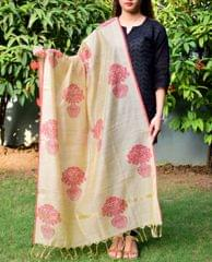 Cotton Silk Hand Block Printed Dupatta-Pattern 2