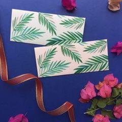Tropical Leaves Money Envelope set