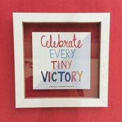 Celebrate Every Tiny Victory' Wall Frame