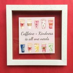 Caffeine + Kindness' Wall Frame
