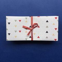 Personalised-Coloured Triangles Money Envelope set of 25