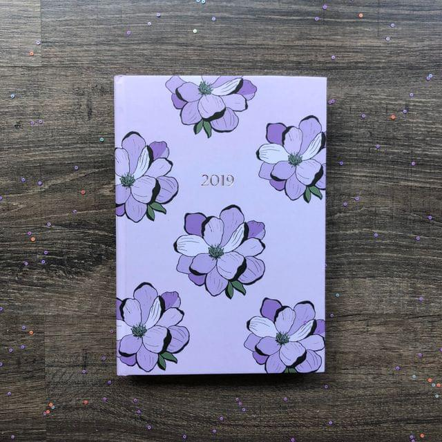 2019 Hardbound Planner: Lilac Floral Bloom
