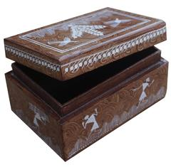 Wooden Box With Top Open Cover-Medium-WF22