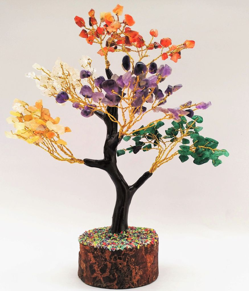 Agates (Akik) of Cambay-Seven Chakra Tree