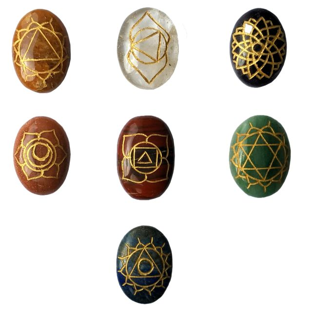 Agates (Akik) of Cambay-Karuna Reiki-Seven Chakra (7)