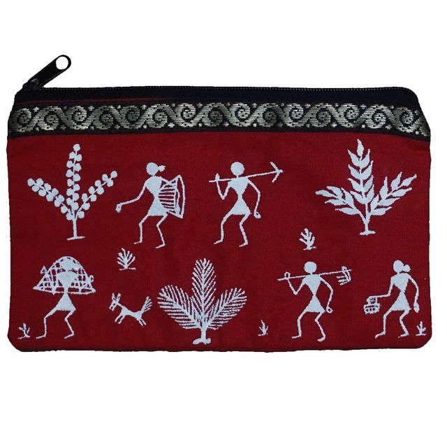 Cotton Cloth Purse-Warli Art- CL11