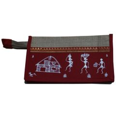 Trendy Jute Purse-Warli Art-JA12