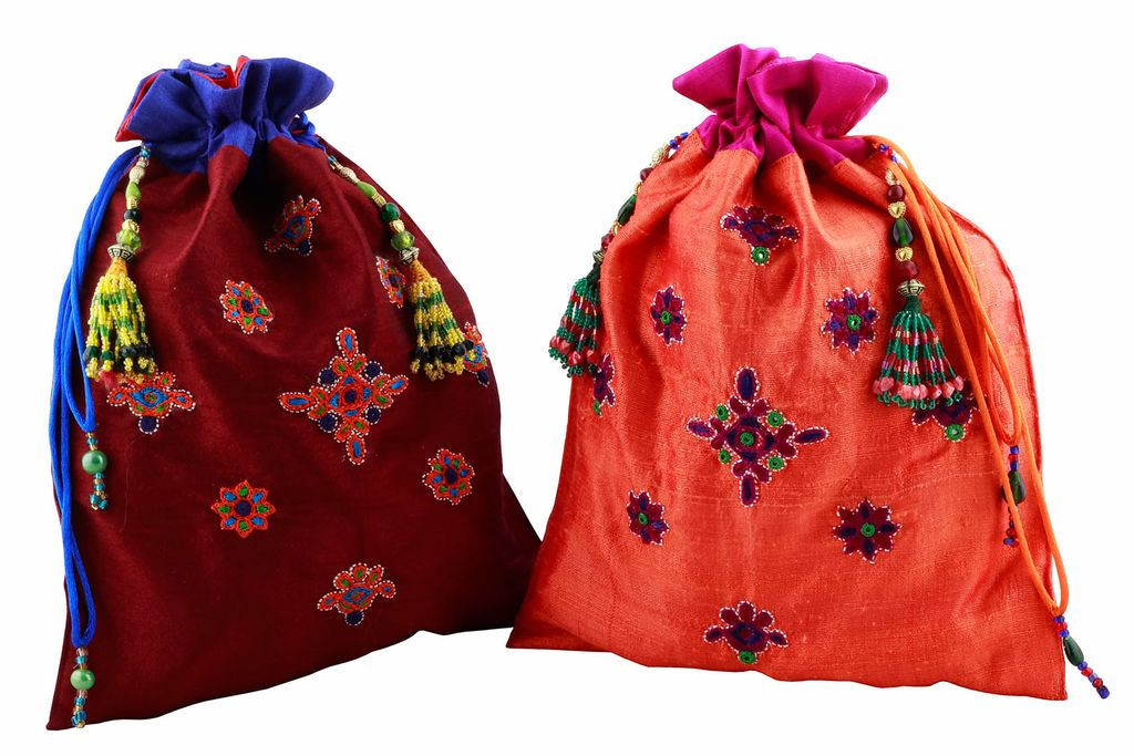 Embroidered Handcrafted Silk Koyal Batwa-VIVEKA