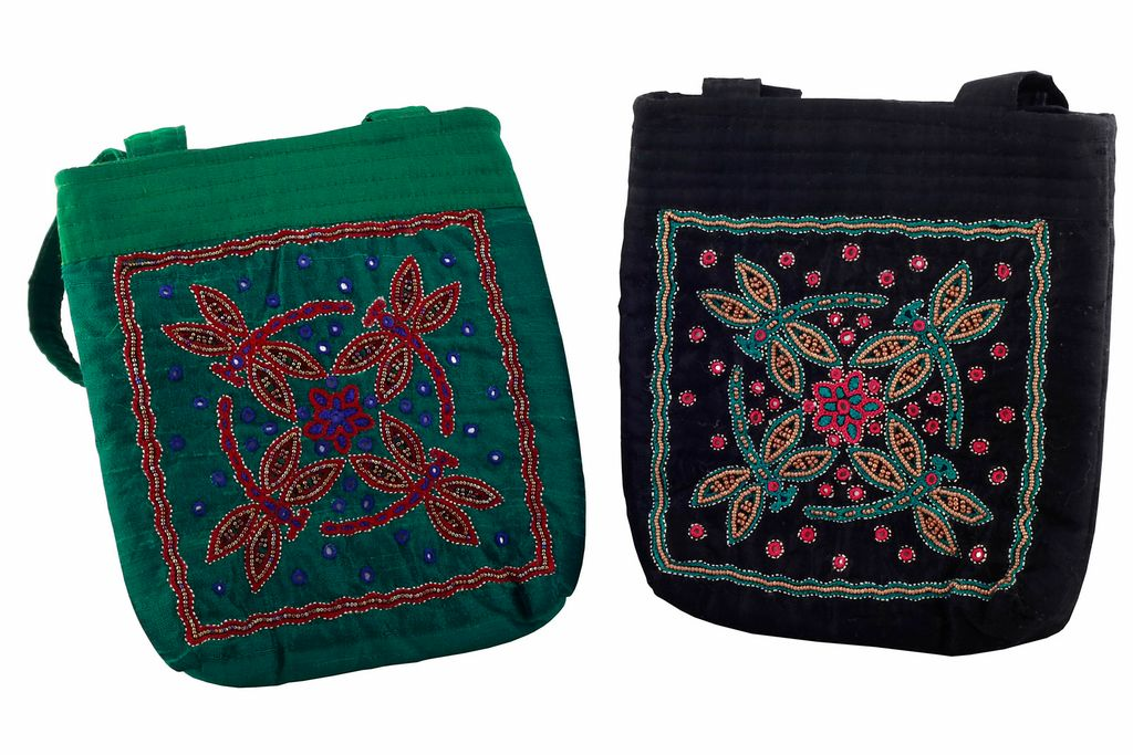 Embroidered Handcrafted Evening Purse (JS148)-VIVEKA