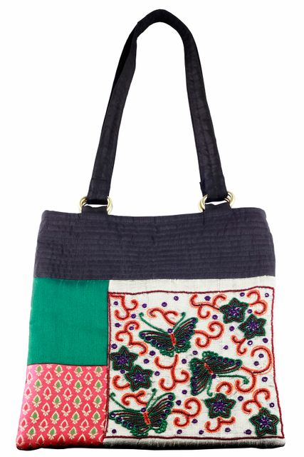Embroidered Handcrafted Office Bag (JS-105)-VIVEKA