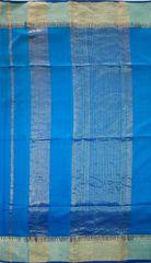 Maheshwari Handwoven Cotton-Silk Saree: Karwat Zari Patti