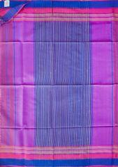 Maheshwari Handwoven Cotton-Silk Saree: Mulberry Silk Border