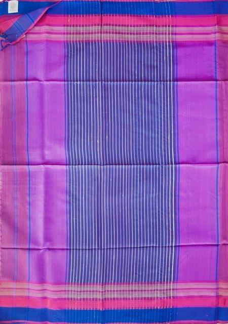 Maheshwari Handwoven Cotton-Silk Saree: Mulberry Silk Border