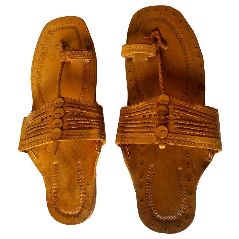 Kolhapuri Men Light Brown Sandal-Moje Shape