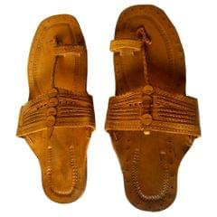 Men Kolhapuri Light Brown Sandal-Moje Shape