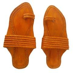 Men Yellow Sandal-Angathaa Patta