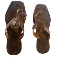Women chocolate brown sandal-Amba Pan