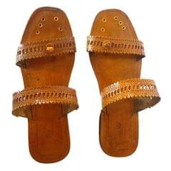 Women brown sandal-Double Patti