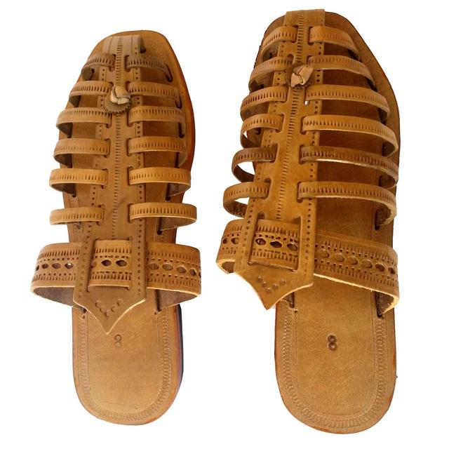 Men brown sandal-8 Padari